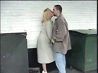 Kissing MILF Public