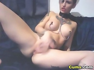 Fetish Goth Masturbating Nipples Tattoo Webcam
