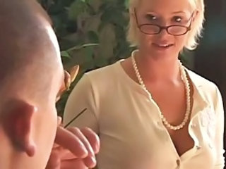 Blonde Glasses MILF Teacher