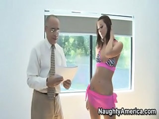 Babe Daddy Interracial Old and Young Pornstar Teacher