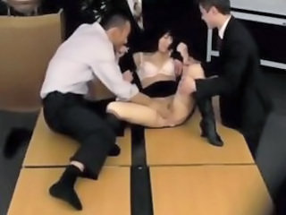 Asian Gangbang Japanese MILF Office Secretary