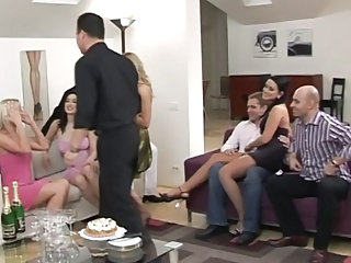 Drunk Groupsex MILF Orgy Party Swingers
