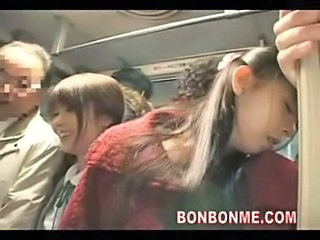 Asian Bus Daughter MILF Mom Old and Young Public