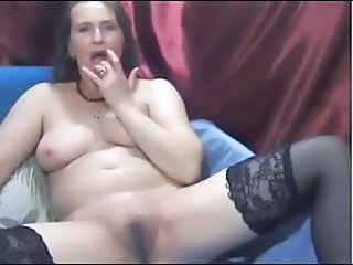 Chubby Masturbating MILF Stockings Webcam