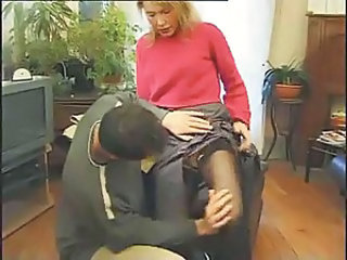 European French MILF Mom Stockings