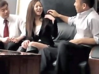 Asian Japanese MILF Office Secretary Threesome