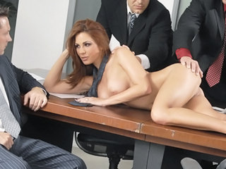 Amazing Bus Gangbang MILF Office Pornstar Redhead Secretary