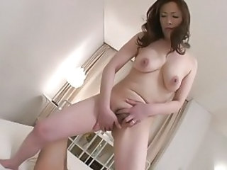 Asian Japanese Masturbating Mature SaggyTits
