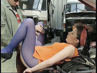 Ass Car Clothed MILF Pantyhose Vintage