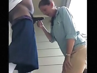 Amateur Blowjob Cash Clothed Interracial Outdoor