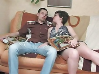 Chubby Glasses MILF Mom Old and Young Russian