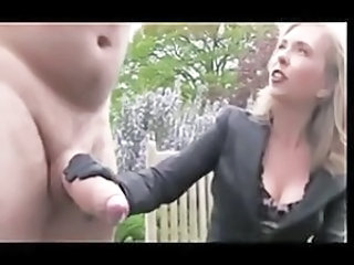 Big cock CFNM Handjob MILF Outdoor