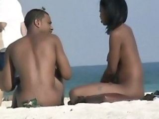 Beach Ebony Nudist Outdoor Voyeur