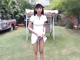 Asian Nurse Outdoor Softcore Teen Uniform