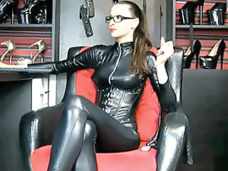 Amazing Femdom Fetish Glasses Latex MILF Webcam