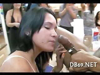 Big cock Blowjob CFNM Interracial MILF Party