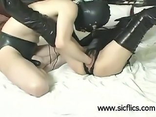 Extreme submissive slut is brutally fist fucked by two merciless thugs