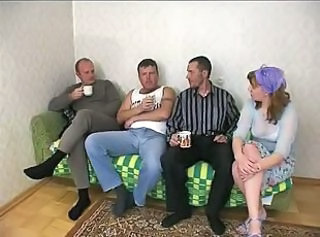 Group of kinky dudes cant wait to fuck a whore