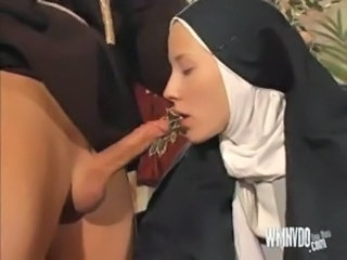 Nun And Priest, dildo toys nun priest anal sex blowjob cumshot facial...