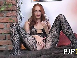 """Gyno dildo in her huge redhead vagina"""" class=""""th-mov"""