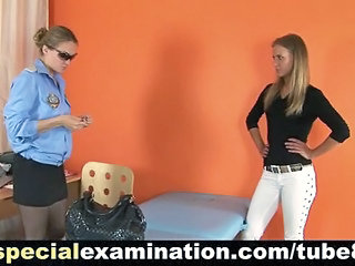 Sexy Blonde Examined By Rude Police Doct...