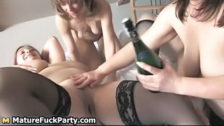 Three Horny Fat Mature Wifes Fucking Part3