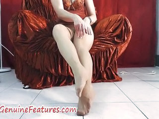 Pantyhose Fetish Fun With Real Milf In Backst