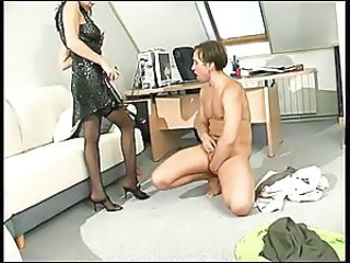 Hot lady strapon dominates BF after date
