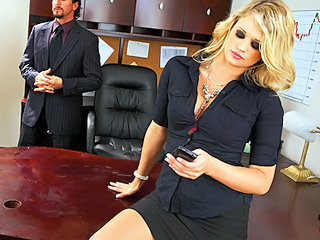 Horny Sexy Blonde Boss Sucks & F...