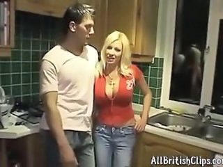 Sexy Busty Blonde Brit Cougar Banging british euro brit european cumshots swallow