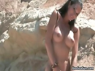 Amazing busty model gets naked and plays part2