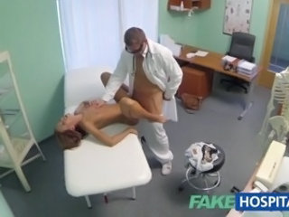 Hot girl with big tits gets doctors treatment before learning she can squirt