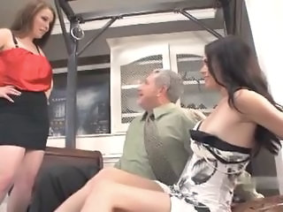 Horny game with mom and daughter's friend