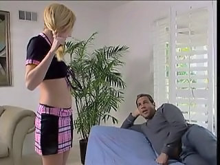 Horny blond coed slut gets fucked