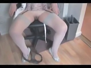 Granny in stockings strips and spreads Sex Tubes