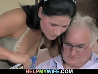 Old hubby watches his sweet wife fuck Sex Tubes