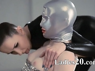 hungry strapon lesbians in mask carrying-on