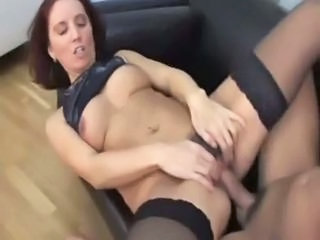 """Sweet mom in stockings with hairy cunt"""" class=""""th-mov"""