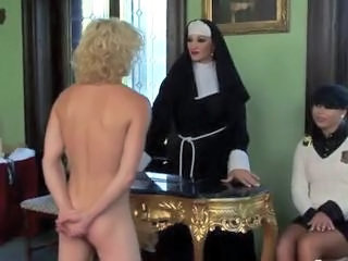 "Nun and schoolgirls whip loser"" class=""th-mov"