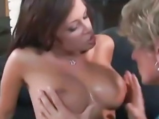 Big tit babe gets a rough fuck