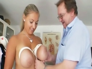 Big-titted Plump Donna Boobs Tied During Gyno Exam