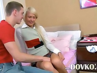 Girl in shoes bum banged on the bed