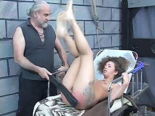 """Hard spanking for sexy young brunette perky tit girl from older bdsm master Len"""" class=""""th-mov"""