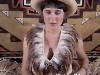 Queasy cowgirl gets banged in a Vintage Porn