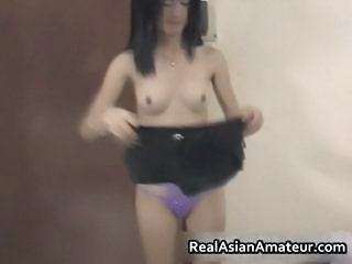 Horny amateur asian cutie stu...