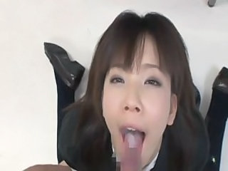 Japanese Schoolgirl ready for facials 1