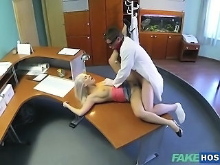 Sexy Blanche sucks and fucks her doctor