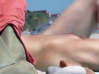 Beach pussy flasher knew I was filming