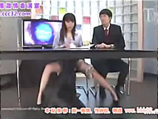 Show host come under the table
