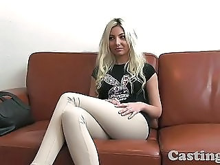 Castingxxx Cute Blonde Angel Covered In Spunk